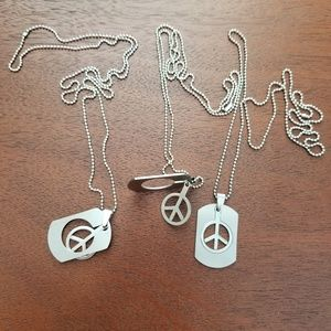 Jewelry - 3 Pack BFF Friendship Peace Necklace